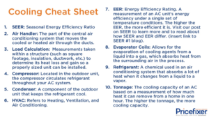 "Cooling ""Cheat Sheet"""